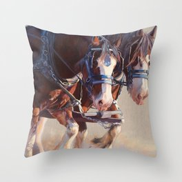 Before the sun goes down Throw Pillow