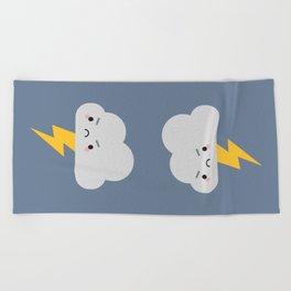 Kawaii Thunder & Lightning Cloud Beach Towel