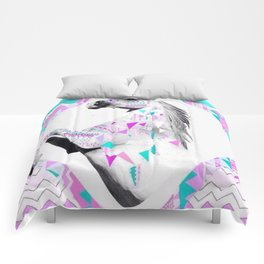Colorful Triangles Comforters