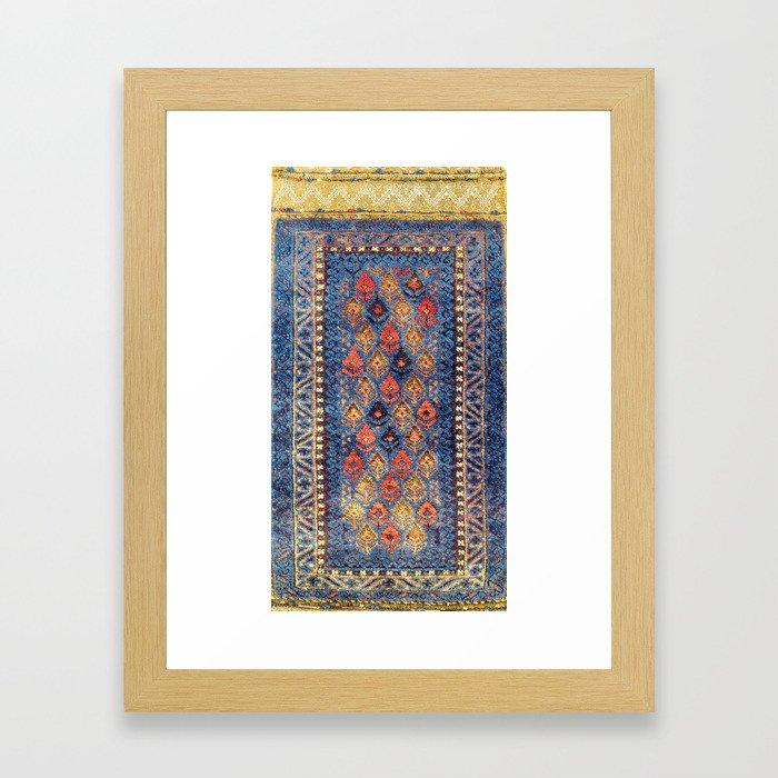 Baluch Balisht Khorasan Northeast Persian Bag Print Framed Art Print