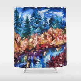 Fall in Rockies Shower Curtain