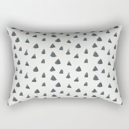 Hand painted black gray watercolor geometrical triangles Rectangular Pillow