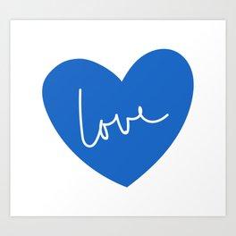 Loving heart - blue Art Print