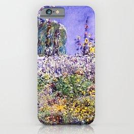 Classical Masterpiece Dexter's Garden by Frederick Childe Hassam iPhone Case