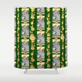 The Empress - A Floral Tarot Print Shower Curtain