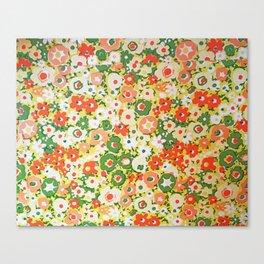 Sunset Garden Pattern No. 1 Canvas Print