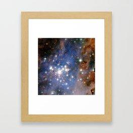 Star cluster Trumpler 14 in the Milky Way (NASA/ESA Hubble Space Telescope) Framed Art Print