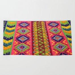 Colorful Guatemalan Alfombra Beach Towel