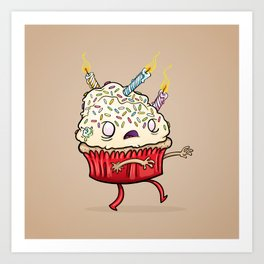 Cupcake zombie 8 Art Print