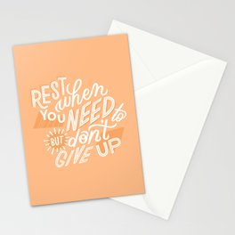 rest when you need to Stationery Cards