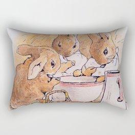 Peter Rabbit with his parents Rectangular Pillow
