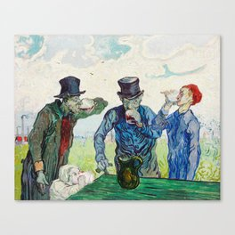 The Drinkers by Vincent Van Gogh Canvas Print