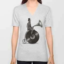Music Man Unisex V-Neck