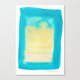 180815 Watercolor Rothko Inspired 11| Colorful Abstract | Modern Watercolor Art Canvas Print