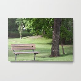 Park Bench in a Park Metal Print
