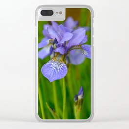 Siberian Iris by Teresa Thompson Clear iPhone Case