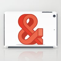 ampersand iPad Cases featuring Ampersand by Damien Faivre