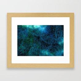 System Network Connection Framed Art Print