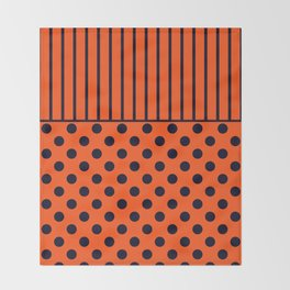 Orange, combo pattern Throw Blanket