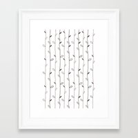 calendars Framed Art Prints featuring Spring Pattern by Shabby Studios Design & Illustrations ..