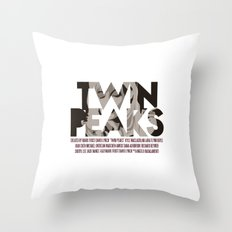 Twin Peaks Poster Throw Pillow