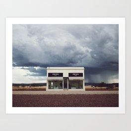 Summer storm | Marfa, Texas Art Print