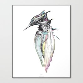 Kingfisher 1h. Full color plus black borders with white background-(Red eyes series) Canvas Print