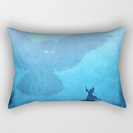 Owl Summoner: Blue Haze Rectangular Pillow