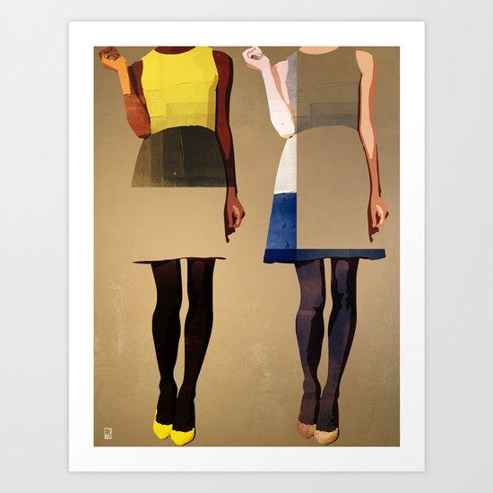 Super Models Art Print