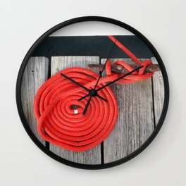 Red Rope Wall Clock
