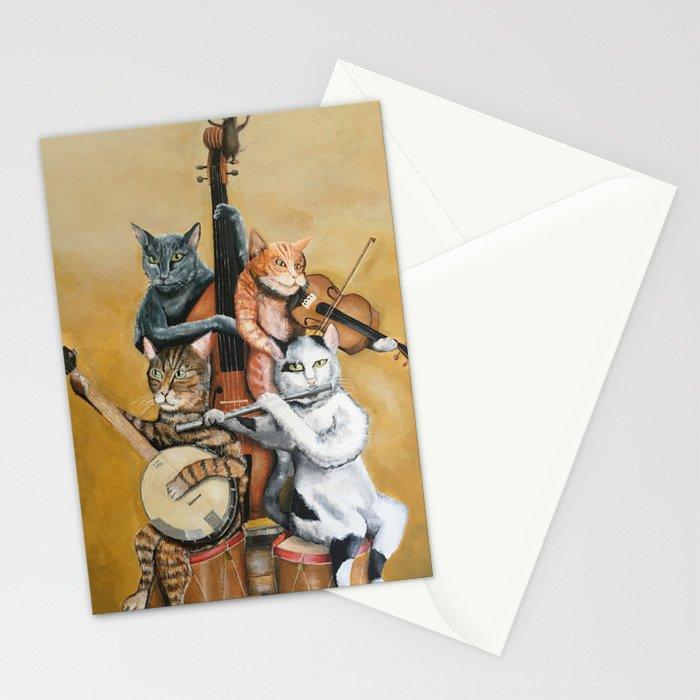 Cat Quartet Stationery Cards