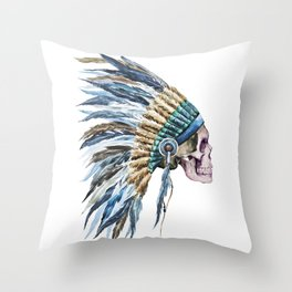 Skull 04 Throw Pillow