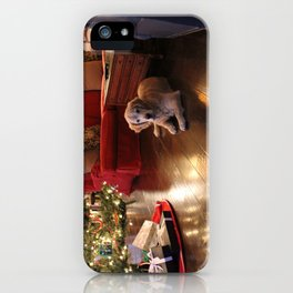 Golden Retriever Ready to Open Gifts iPhone Case