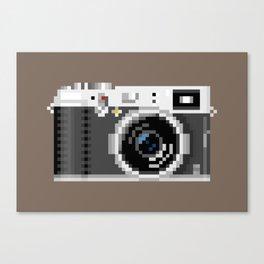 Retro Camera Pixel Art Canvas Print
