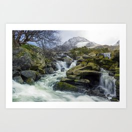 Snow Covered Tryfan Art Print