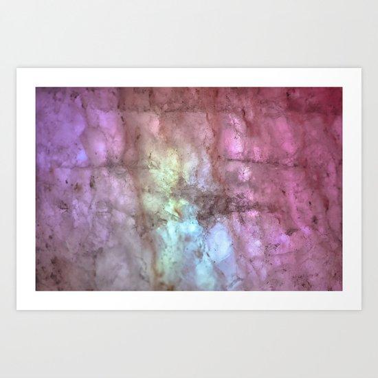 Lights & Minerals Art Print