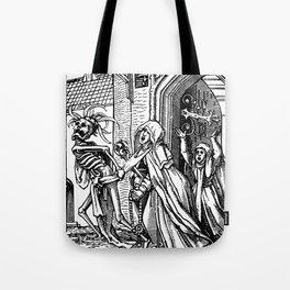 Holbein Danse Macabre 15 Tote Bag
