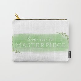 Live As A Masterpiece (Logo) Carry-All Pouch