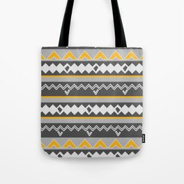 Gray stripes and native shapes Tote Bag