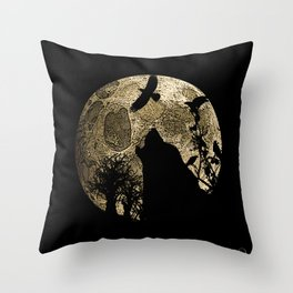 Lonewolf Lycan Dreaming 1 Throw Pillow