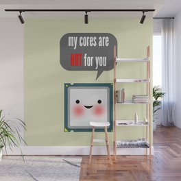 Cute blushing CPU My cores are hot for you Wall Mural