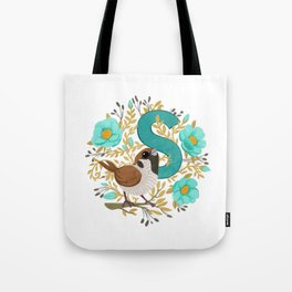 S is for Sparrow Tote Bag