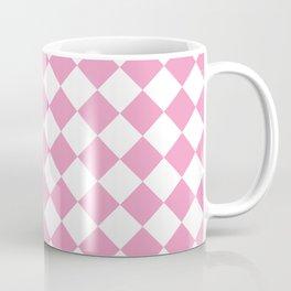 Light Pink Diamond Pattern Coffee Mug