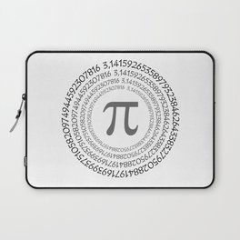 The Pi symbol mathematical constant irrational number on circle, greek letter, background Laptop Sleeve