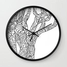 zen doodle tree Wall Clock