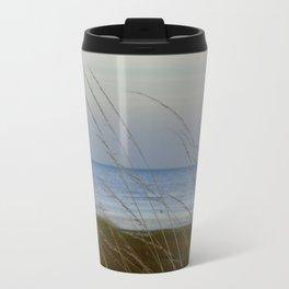 Pegwell Bay in the setting sun Travel Mug