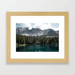 Lake Carezza - Italy -  Fine Art Landscape Photograph Framed Art Print
