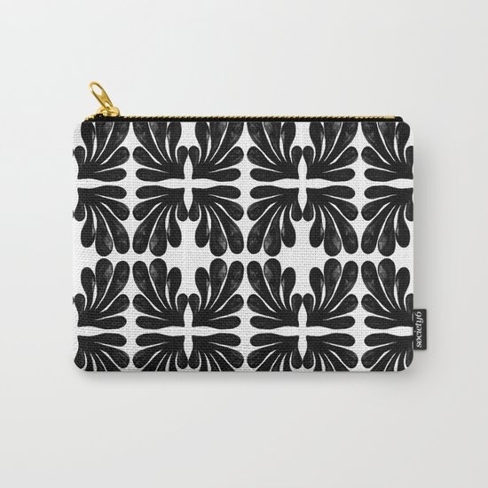 Grace - black and white abstract painting india ink brushstroke watercolor minimal modern urban  Carry-All Pouch
