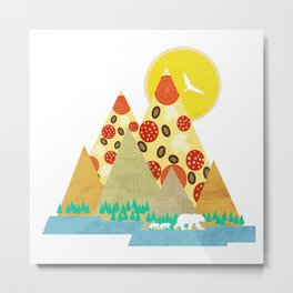 Springtime in the Pizza Mountains Metal Print