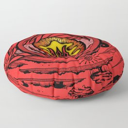 Eye of an Incarnation Red Floor Pillow
